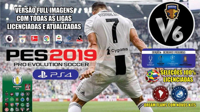 PES 2019 PS4 OF v6 by Emerson Pereira For Season 2018-19