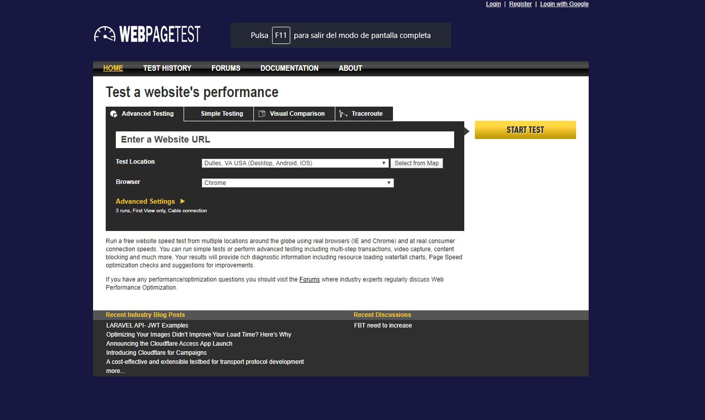 ▷ Conoce Web Page Test: Una excelente herramienta para crear análisis de tu web