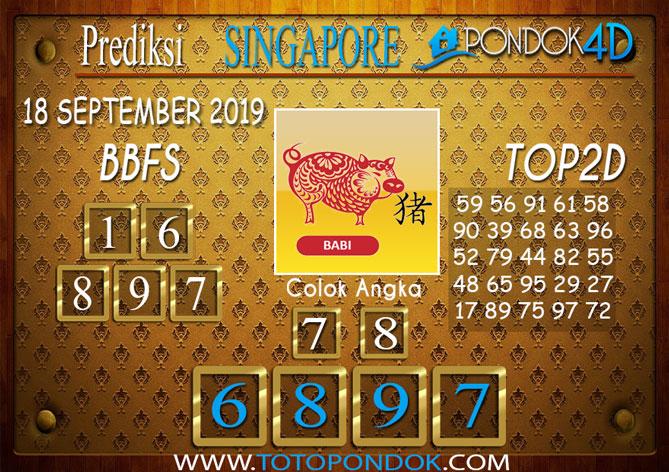 Prediksi Togel SINGAPORE PONDOK4D 18 SEPTEMBER 2019