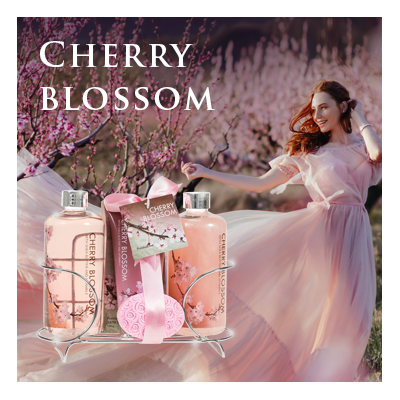Bath Body and Spa Gift Sets in Relaxing Cherry Blossom Fragrance Perfect for Women