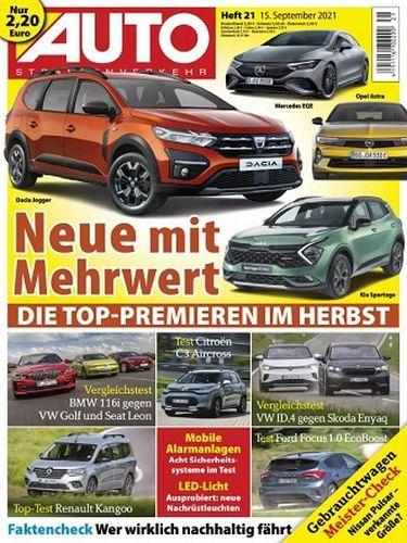 Cover: Auto Strassenverkehr Magazin No 21 vom 15  September 2021