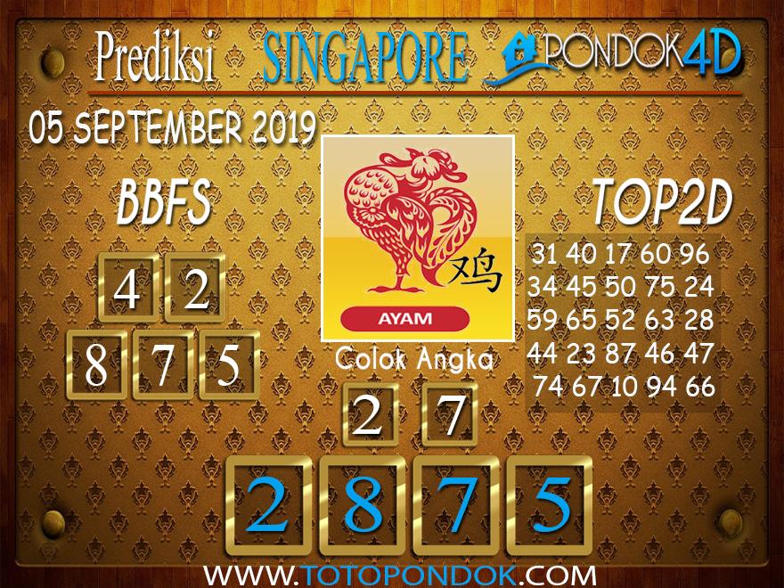 Prediksi Togel SINGAPORE PONDOK4D 05 SEPTEMBER 2019
