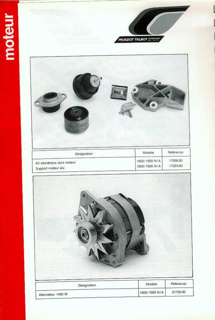 Catalogue PTS pièces compétition - 205 GTI 1600-1900 gr. N/A PTS-Moteur-11