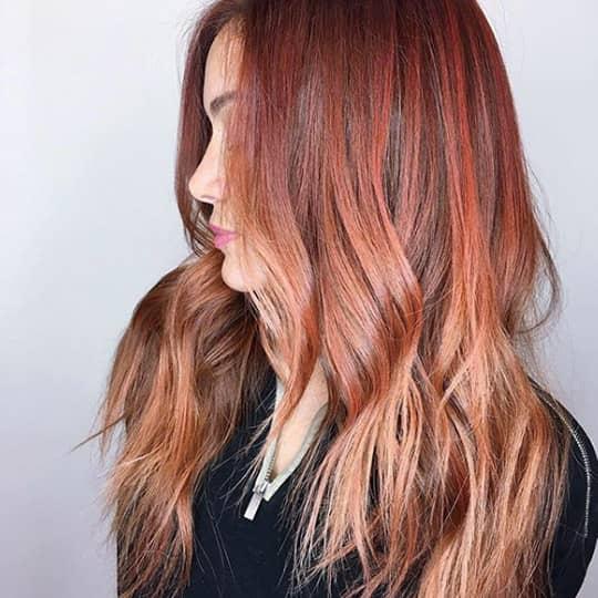 Balayage-strawberry-styled-hair