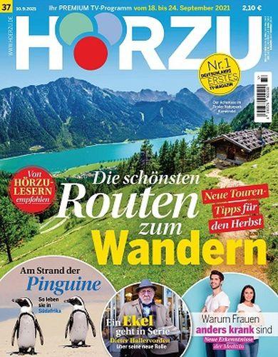 Cover: Hörzu Fernsehzeitschrift No 37 vom 10  September 2021