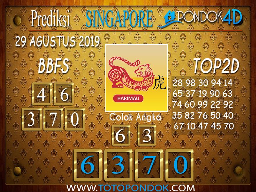 Prediksi Togel SINGAPORE PONDOK4D 29 AGUSTUS 2019