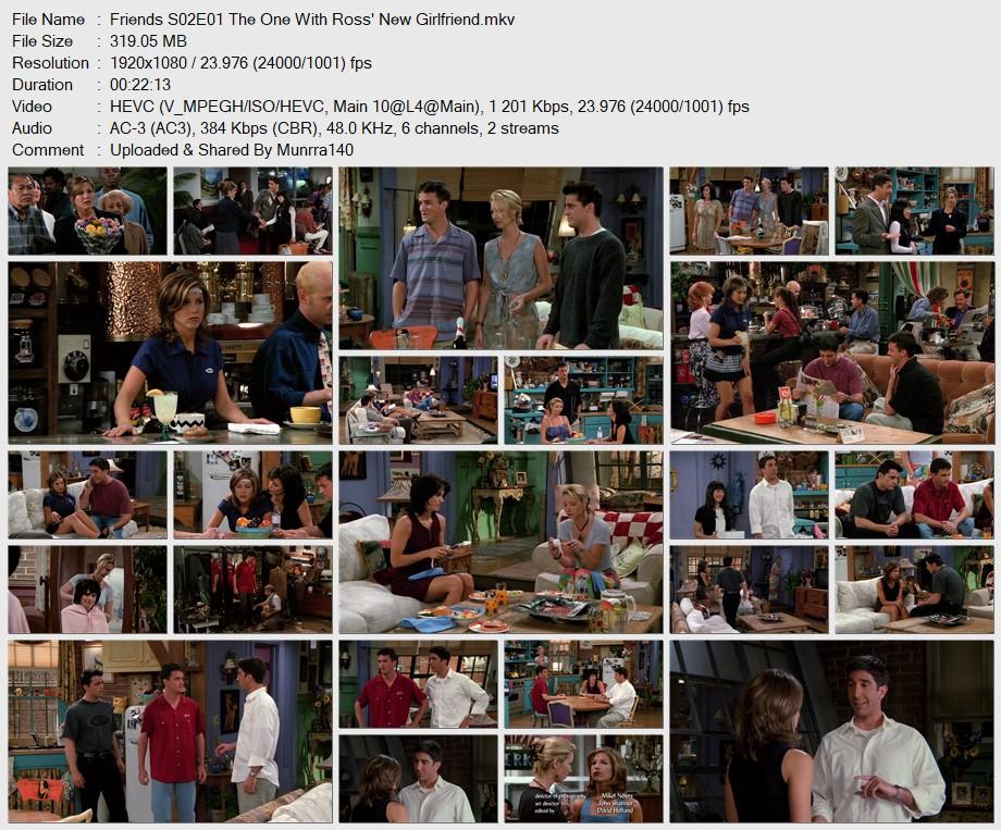 Friends Season 2 x265 10Bits 1080p Dual