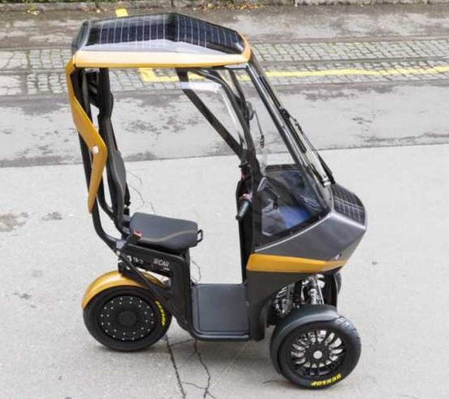 Bicar, un scooter électrique avec panneau solaire Sans-titre
