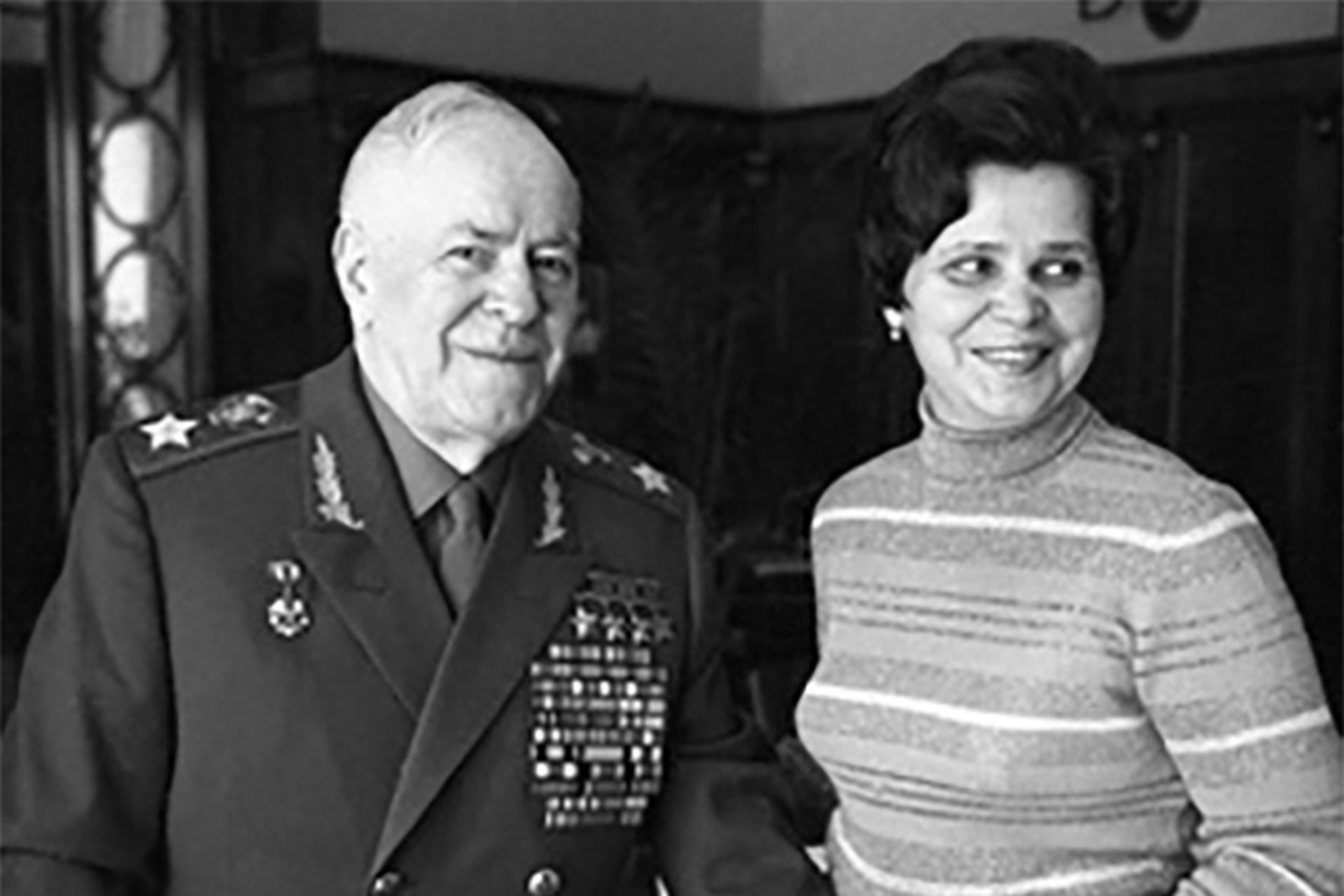 Georgy Zhukov with his last wife Galina.