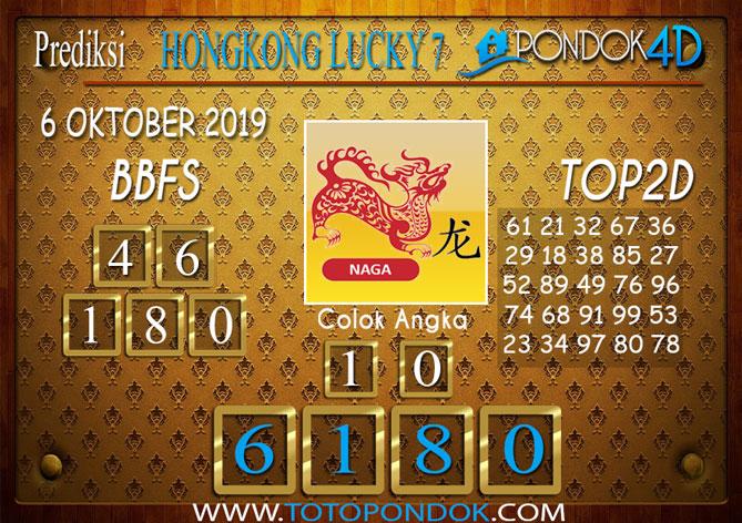 Prediksi Togel HONGKONG LUCKY 7 PONDOK4D 06 OKTOBER 2019