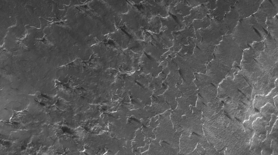 """Come vengono creati i """"ragni"""" sulla superficie del Pianeta Marte."""