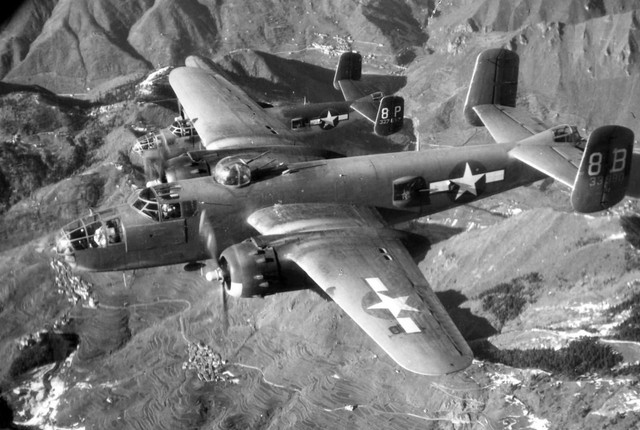 B 25 Mitchell 43 3990 12 AF over Italy