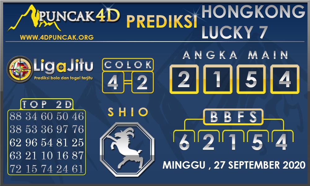 PREDIKSI TOGEL HONGKONG LUCKY7 PUNCAK4D 27 SEPTEMBER 2020