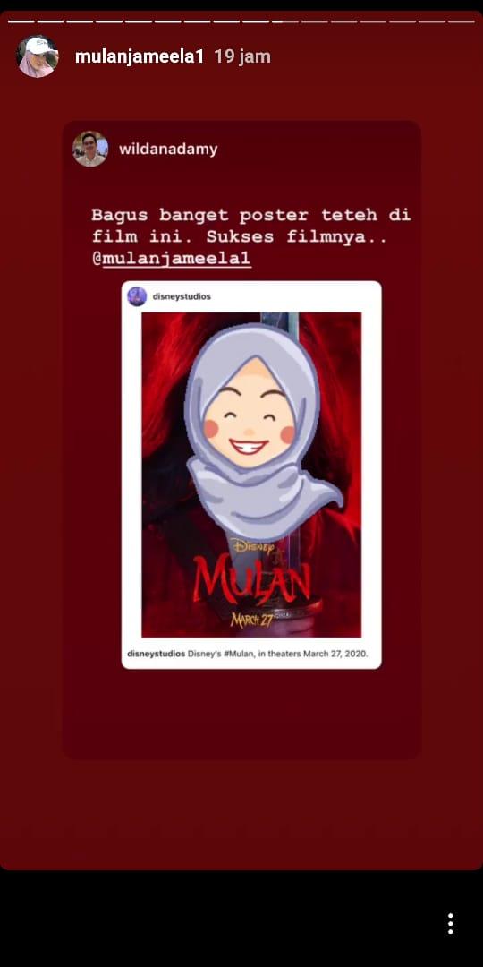 Unggahan Mulan Jameela