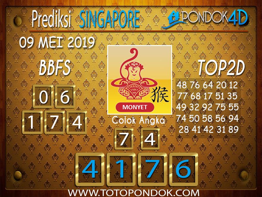 Prediksi Togel SINGAPORE PONDOK4D 09 MEI 2019