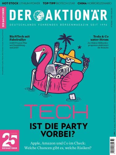 Cover: Der Aktionär Börsenmagazin No 33 vom 13  August 2021