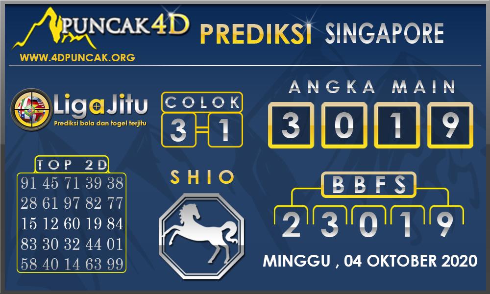 PREDIKSI TOGEL SINGAPORE PUNCAK4D 04 OKTOBER 2020