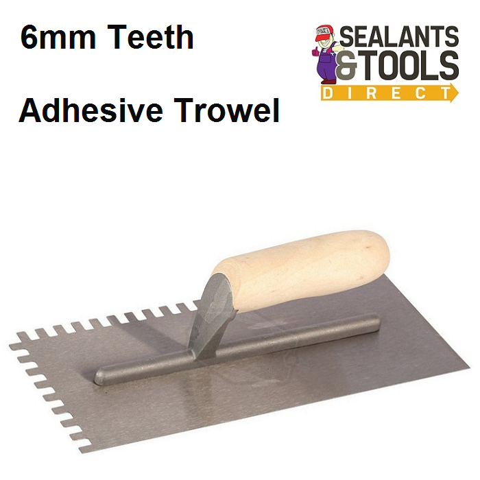 Adhesive Trowel 6mm Square Teeth CB59