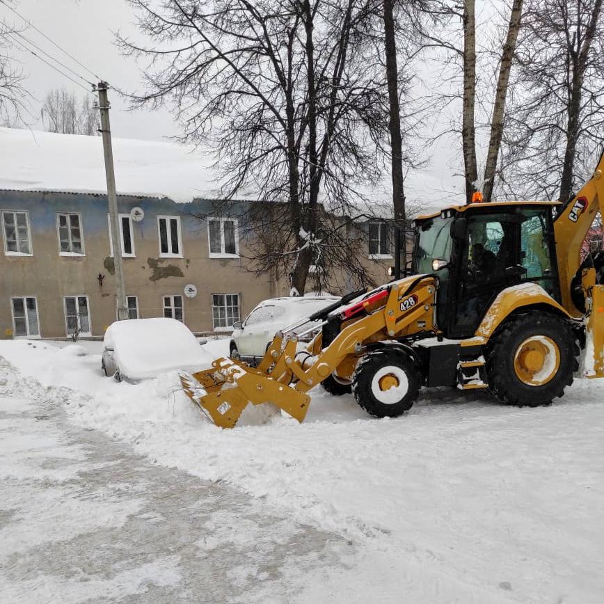 Ликвидация последствий рекордного снегопада на Полигоне