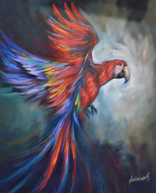 16-Papagayo-Tecnica-O-leo