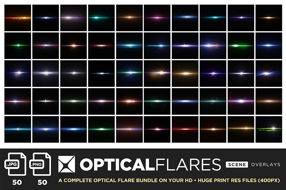 ultimate light fx bundle overlays optical flares