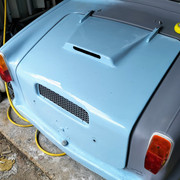 1973 AC Model 70 Engine Cover Refitted After Painting