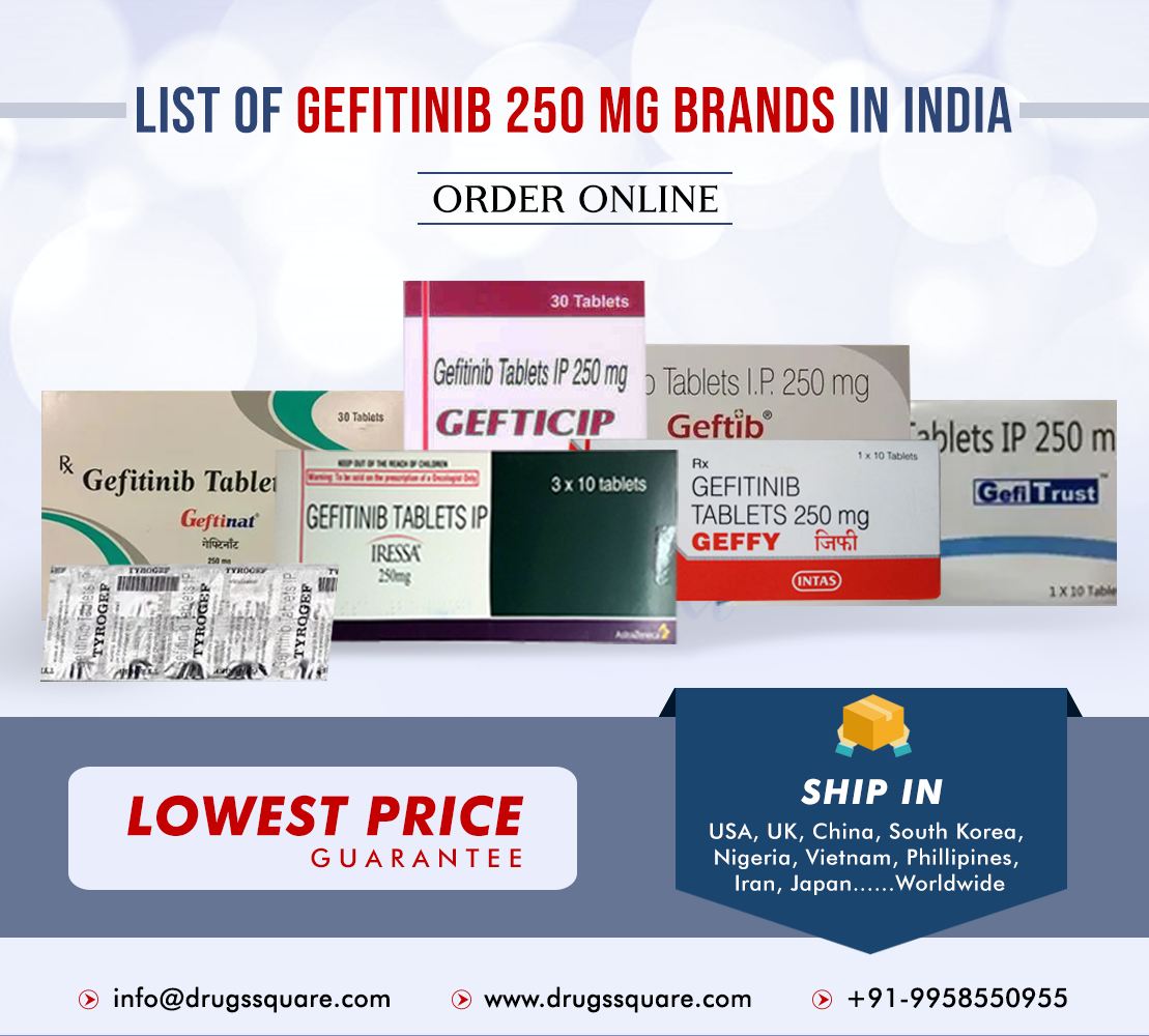 Gefitinib 250 mg brands in India