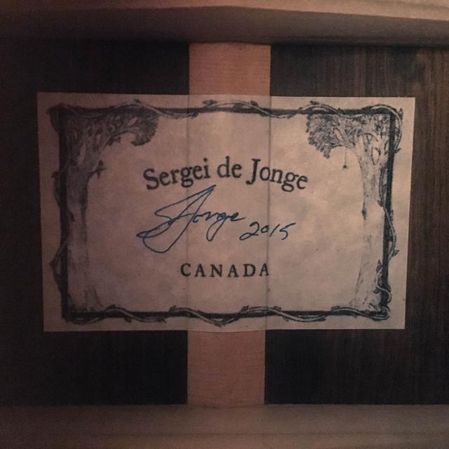 Sergei De Jonge Standard Steel String European / Brazilian Label