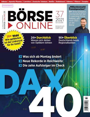 Cover: Börse Online Magazin No 37 vom 16  September 2021