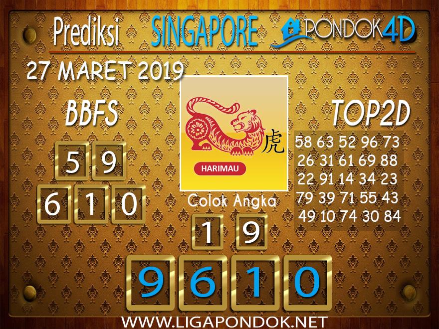 Prediksi Togel SINGAPORE PONDOK4D 27 MARET 2019