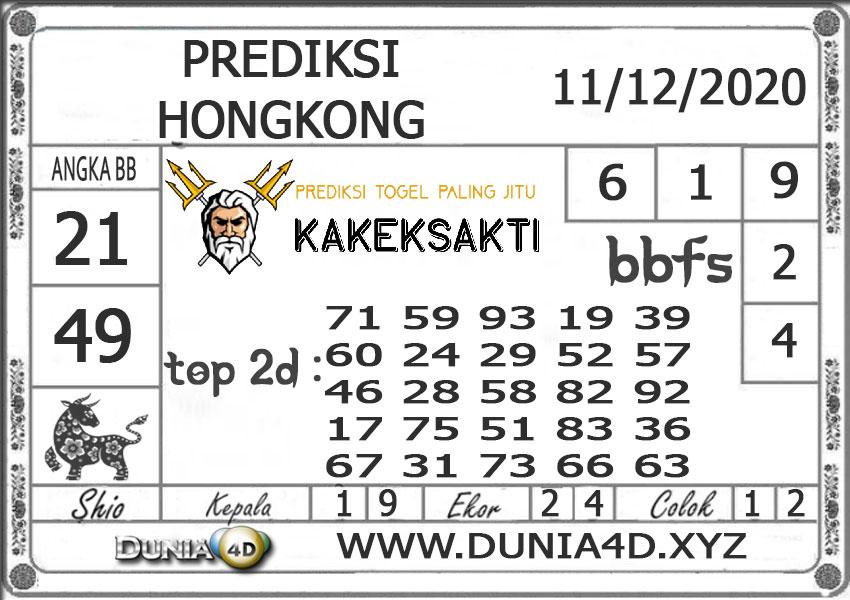 Prediksi Togel HONGKONG DUNIA4D 11 DESEMBER 2020