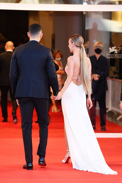 VENICE-ITALY-SEPTEMBER-02-Alejandro-Speitzer-and-Ester-Exposito-walk-the-red-carpet-ahead-of-the-Ope