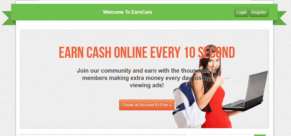 Review of earncare.net Is earncare.net scam or paying?