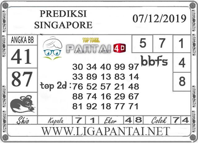 PREDIKSI TOGEL SINGAPORE PANTAI4D 07 DESEMBER 2019