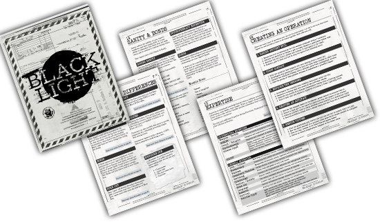 Black Light RPG Interior Pages