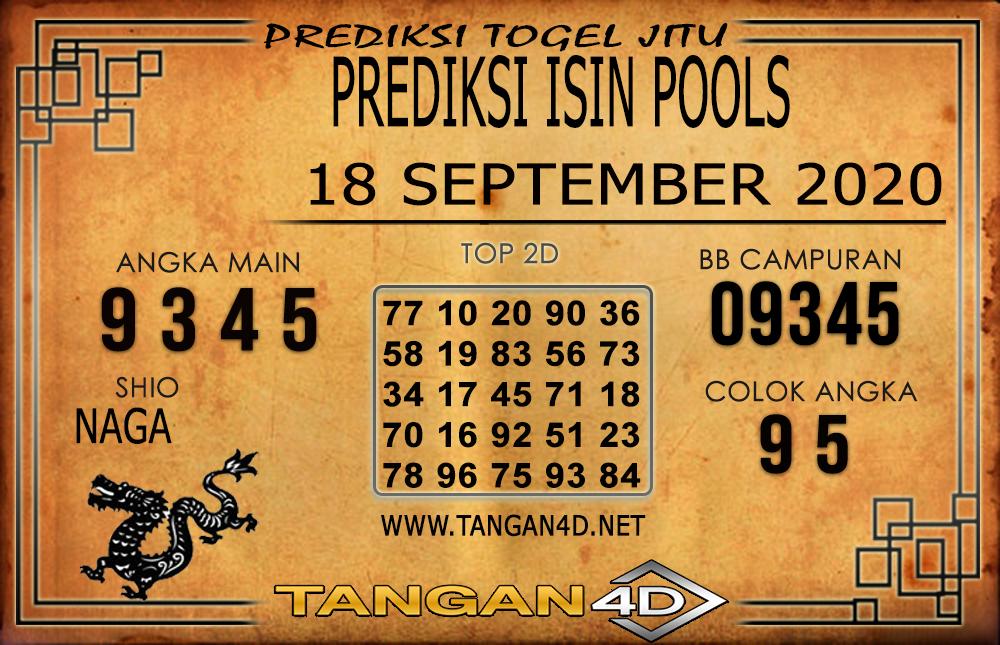 PREDIKSI TOGEL ISIN TANGAN4D 18 SEPTEMBER 2020