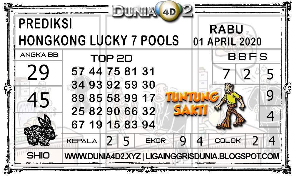 Prediksi Togel HONGKONG LUCKY7 DUNIA4D2 01 APRIL 2020