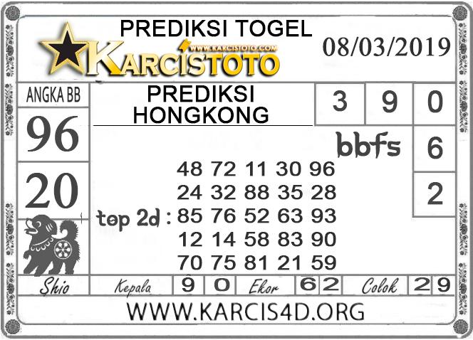 Prediksi Togel HONGKONG KARCISTOTO 08 MARET 2019