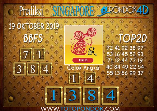 Prediksi Togel SINGAPORE PONDOK4D 19 OKTOBER 2019