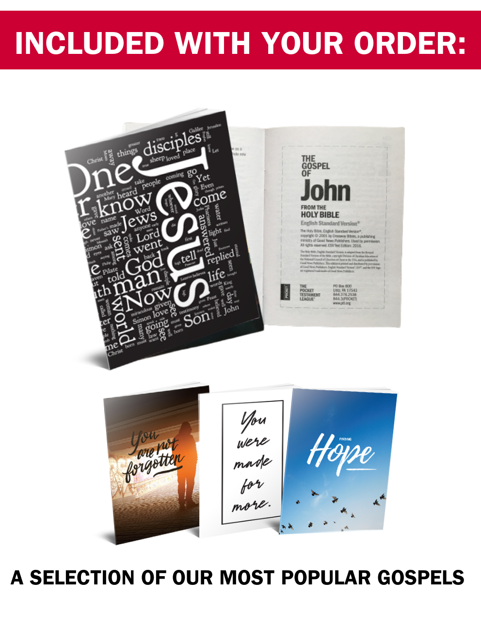 A selection of our most popular pocket-sized Gosepls of John