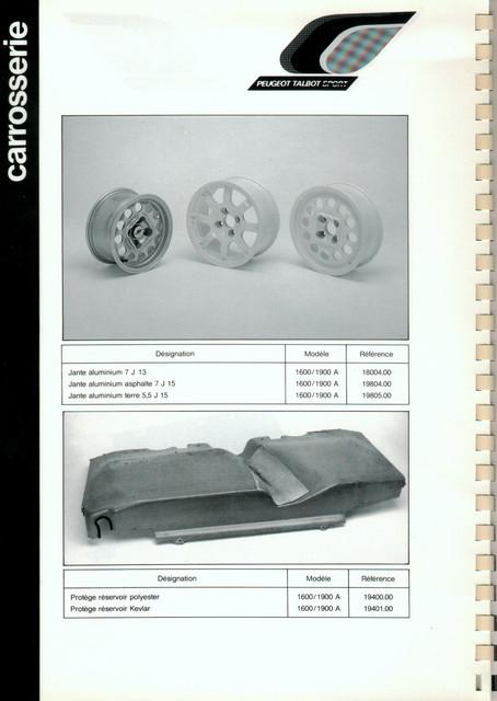 Catalogue PTS pièces compétition - 205 GTI 1600-1900 gr. N/A PTS-Carrosserie-4