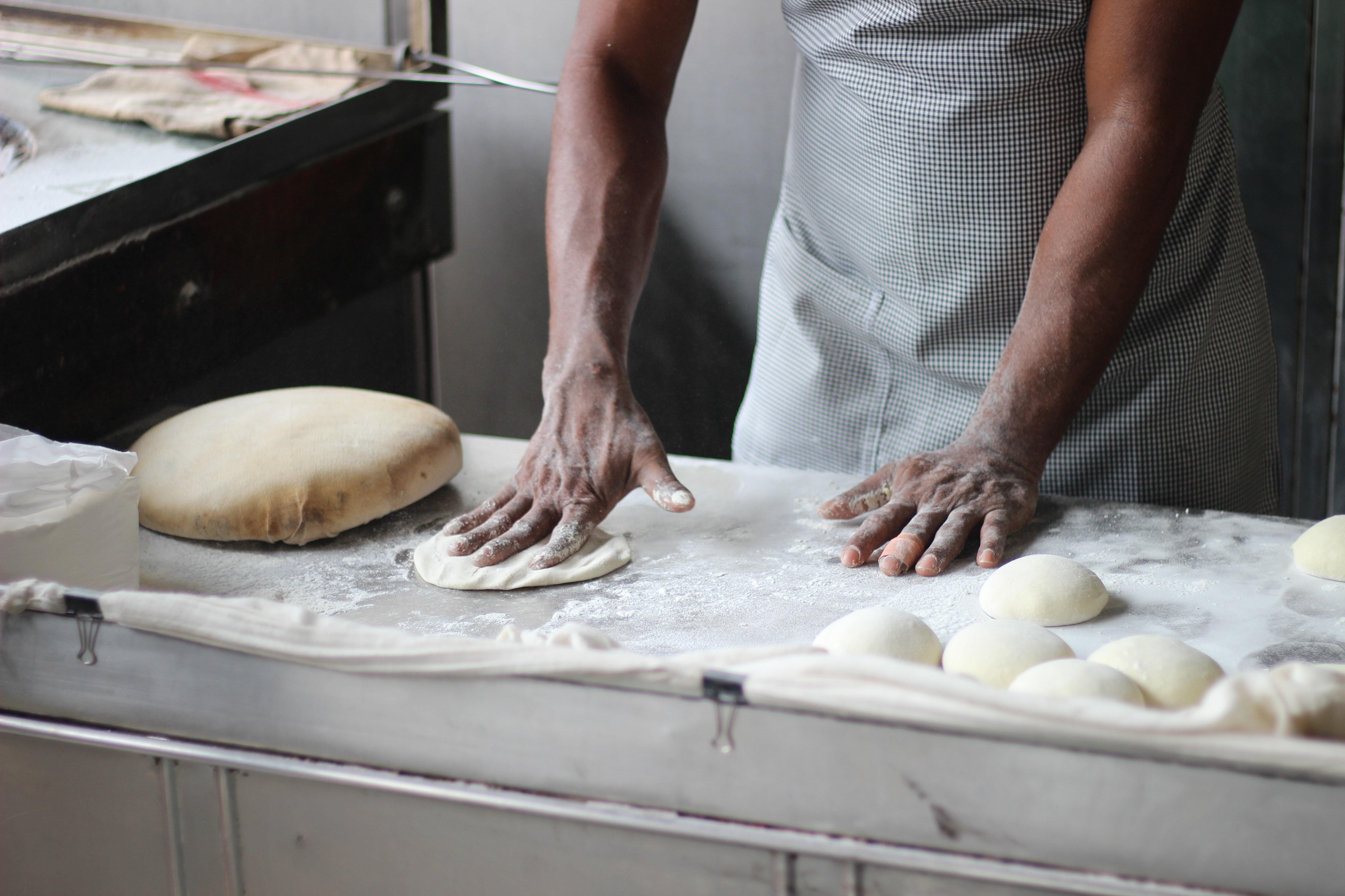 Restaurant preparing food