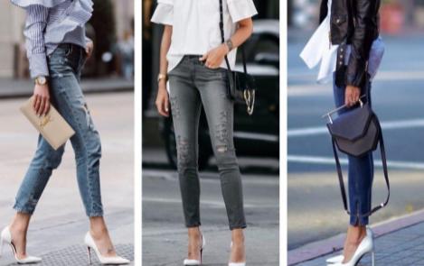 белые туфли с джинсами