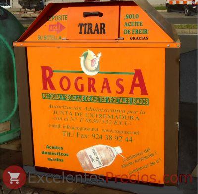 Contenedor de reciclaje de aceite de cocina usado, reciclaje de aceites vegetales usados, Contenedor naranja para la recogida de aceite vegetal usado