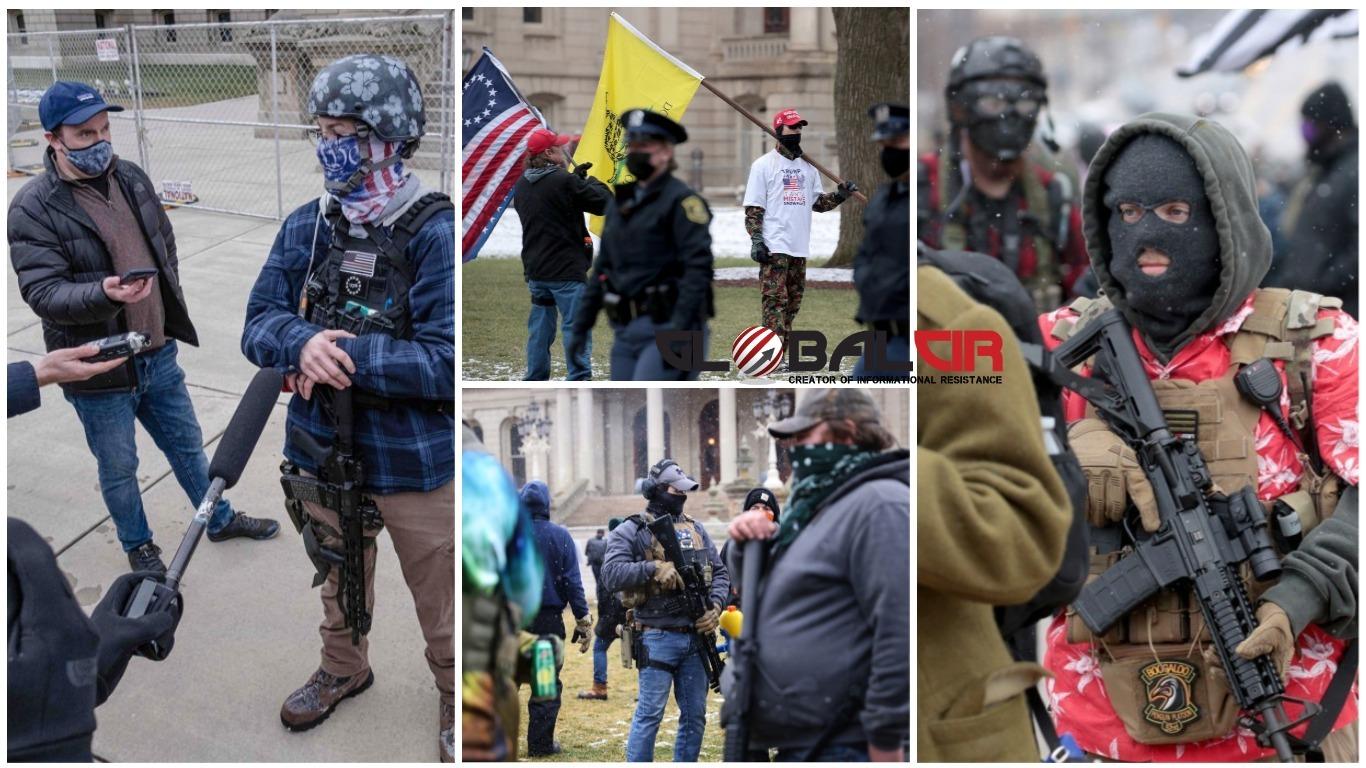 DOK ZGRADU KAPITOLA U WASHINGTONU ČUVA 25.000 PRIPADNIKA NACIONALNE GARDE: Naoružani demonstranti povezani s desničarskim milicijama počinju se okupljati u glavnom gradu države Michigan!
