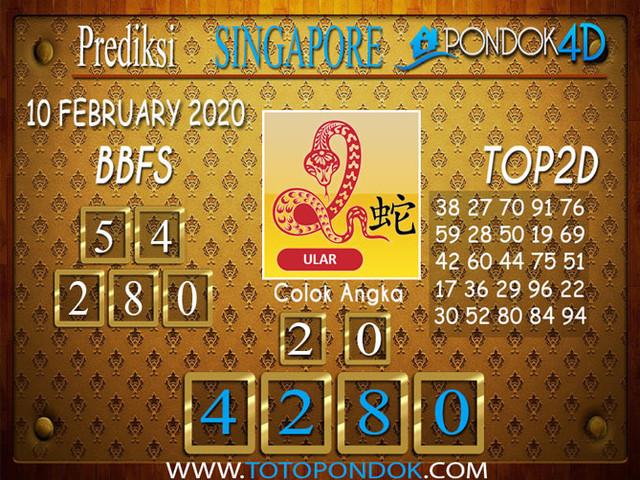 Prediksi Togel SINGAPORE PONDOK4D 10 a FEBRUARY 2020
