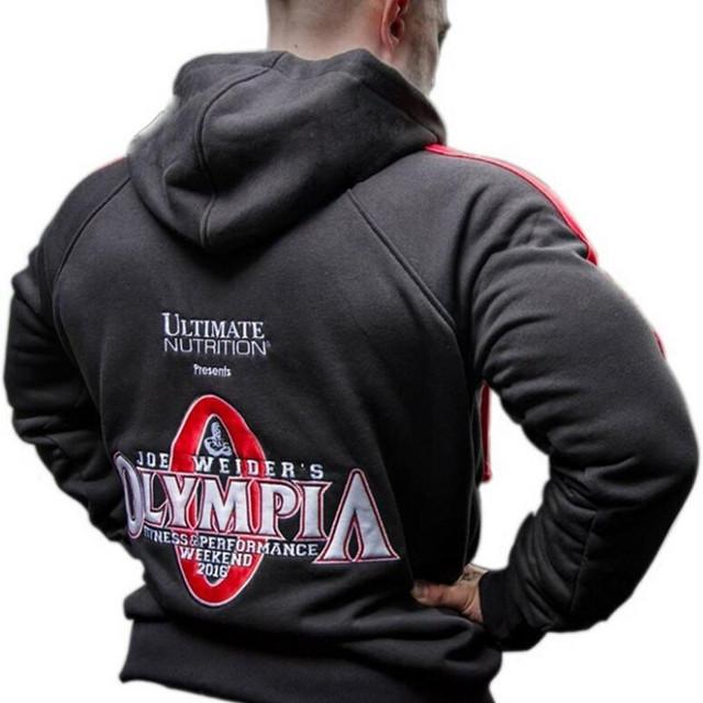 Mr Olympia Bodybuilding Hoodie Men/'s New Black Long Sleeve Sweatshirt Gym Shirt