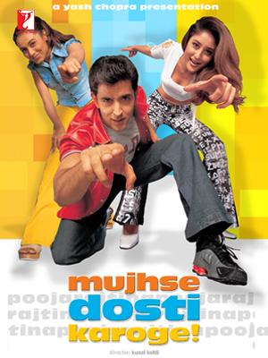 Mujhse Dosti Karoge 2002 Hindi Movie 550MB HDRip ESubs Download