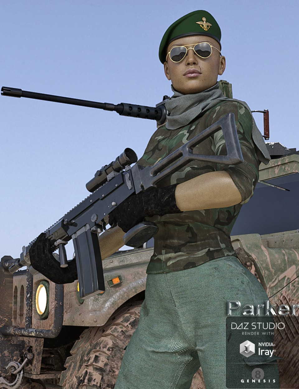 Lieutenant Parker for Genesis 8 Female