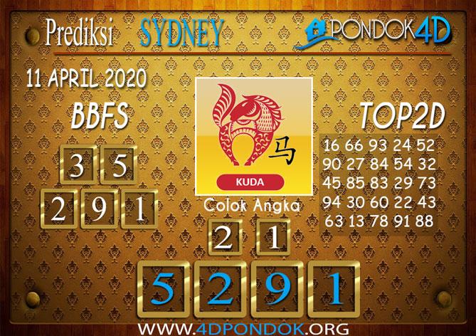 Prediksi Togel SYDNEY PONDOK4D 11 APRIL 2020